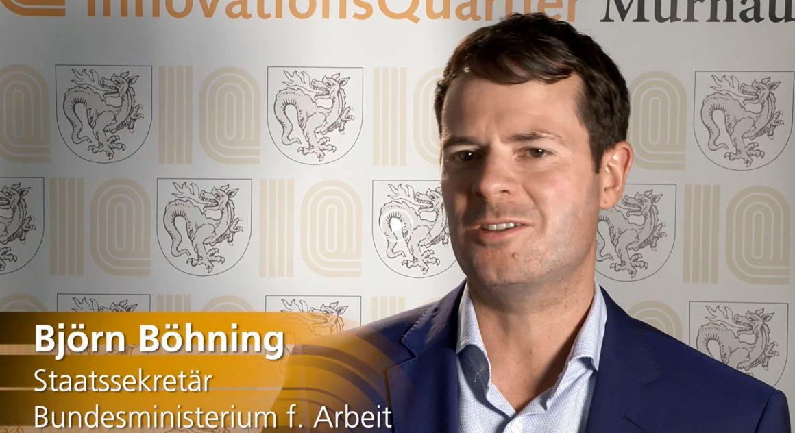 Video: Staatssekretär Björn Böhning besuchte das IQ
